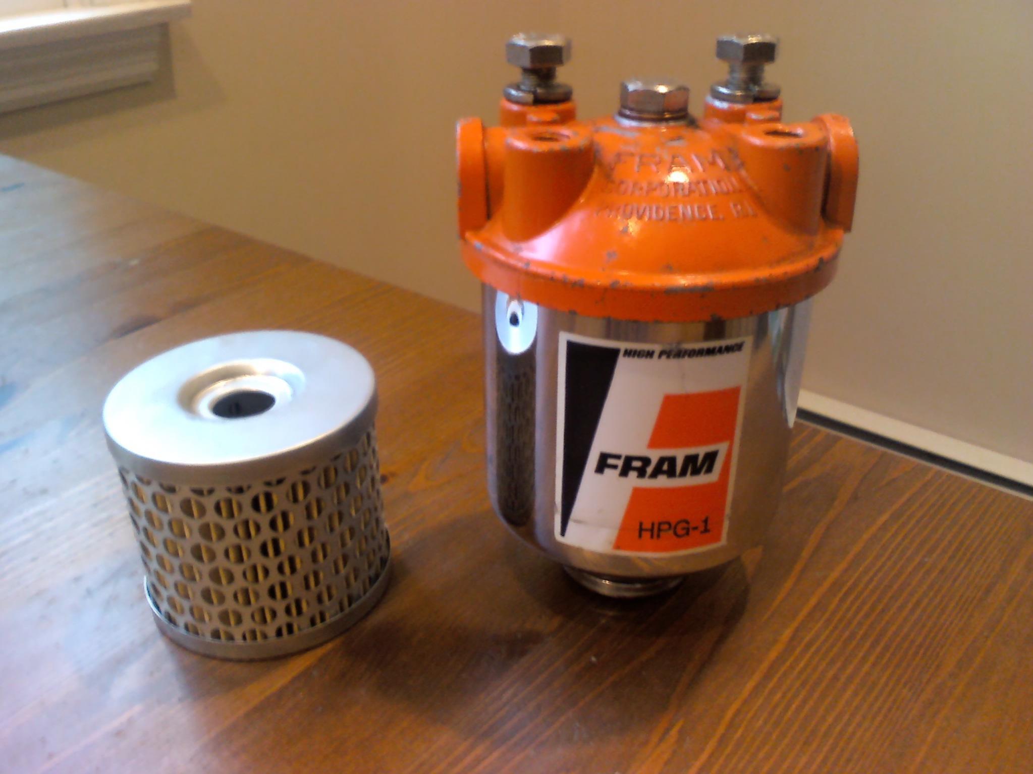 [SCHEMATICS_48YU]  For Sale: - Holley Blue Fuel Pump, Fram HPG-1 Fuel Filter | Factory Five  Racing Forum | Fram Hpg1 Fuel Filter |  | Factory Five Racing Forum