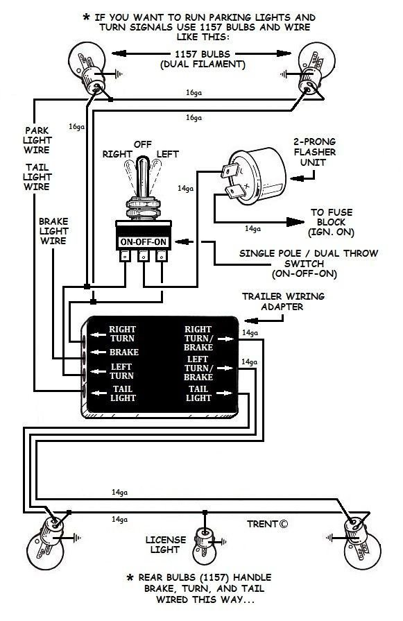 Turn Signal Wiring Using Relays | Factory Five Racing Forum | Turn Signal Switch Diagram With 3 Wires |  | Factory Five Racing Forum