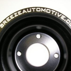 Breeze black serpentine crank pulleys