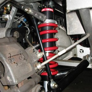 pin-drive IRS upper shock mount bracket, installed